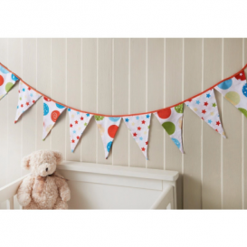 Nursery Bunting with 10 Decorative Flags 2m