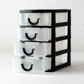 Mini Storage Drawer Unit - Black