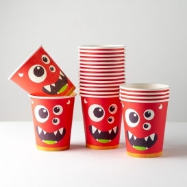 Monster Themed Paper Cups 20pk