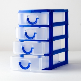 Mini Storage Drawer Unit - Blue