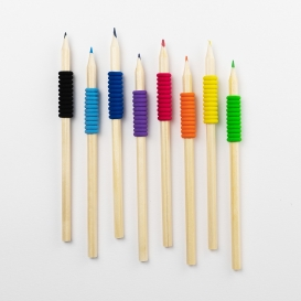 Coloured Soft Grip Pencils 8pk