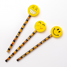 Fun Face Pencil Toppers and Pencils - 3pk [ARCHIVE]