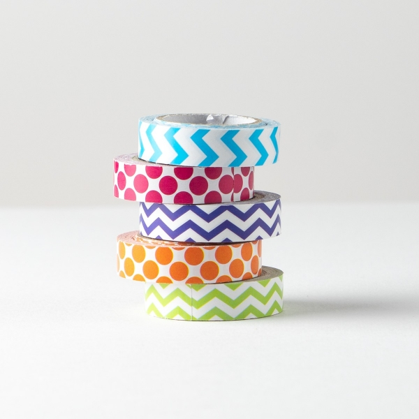 Paper Tape in Assorted Prints 5pk