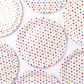 Patterned Paper Plates - 20pk [ARCHIVE]