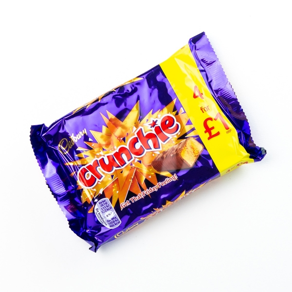 Cadbury Crunchie Bars 4pk