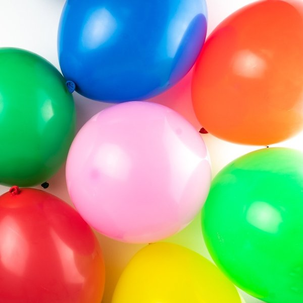 Multicoloured Round Balloons 20pk