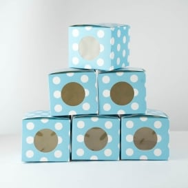 Polka Dot Cupcake Boxes - 6 Pack [ARCHIVE]