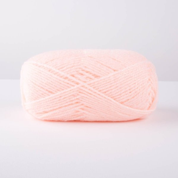 Sparkly Pastel Pink Knitting Yarn