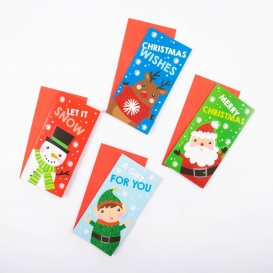 3D Christmas Money Wallets - 4 Pack