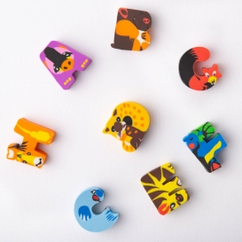 Alphabet Animal Erasers 8pk - A - H