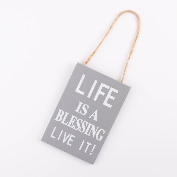 Hanging Home Sign - 'Life is a Blessing'