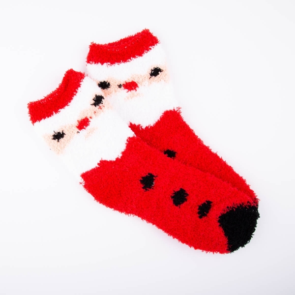 Ladies Cosy Christmas Socks - Santa