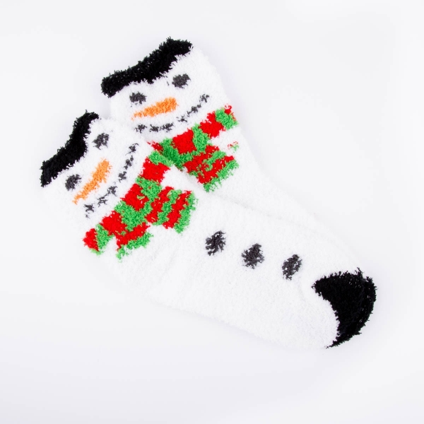 Ladies Cosy Christmas Socks - Snowman